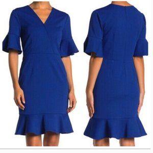 trina trina turk Quest Night Blue Dress sheath